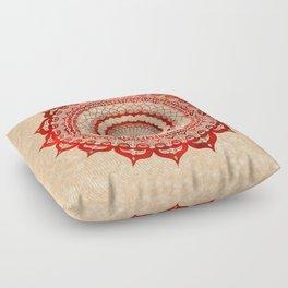 omulyána red gallery mandala Floor Pillow