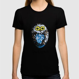 Owl Love Rock Painting on River Rock by annmariescreations T-shirt