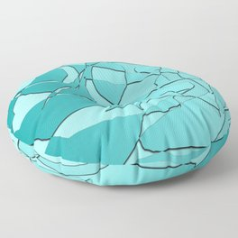 Shattered Teal Floor Pillow