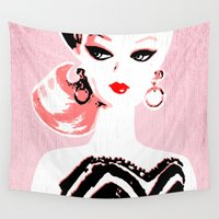 barbie Wall Tapestries featuring Classic Barbie by Gigglebox
