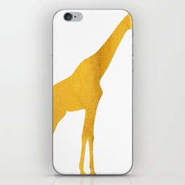 Giraffe Silhouette in Bold Gold iPhone Skin