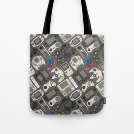 Video Game Controllers in True Colors Tote Bag