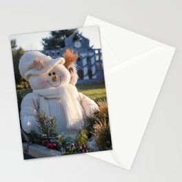 A Smiling Snowman Stationery Cards