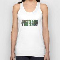 portland Tank Tops featuring Portland by Tonya Doughty