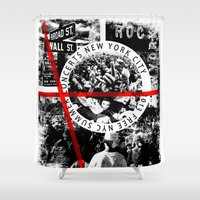 concert Shower Curtains featuring Concert by emeget