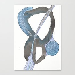 And You Also Abstract Watercolor Canvas Print