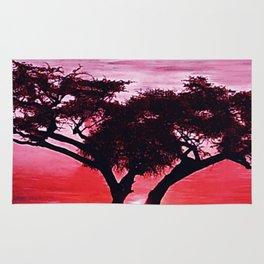 Cherry Blossom Sunset Rug