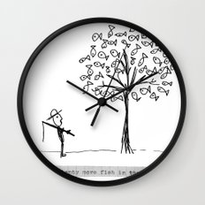 more fish in the tree Wall Clock