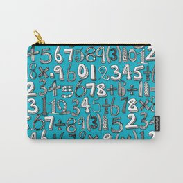 math doodle blue Carry-All Pouch