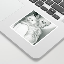 Actress with Cat Sticker