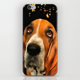 A Basset Hound. (Painting.) iPhone Skin