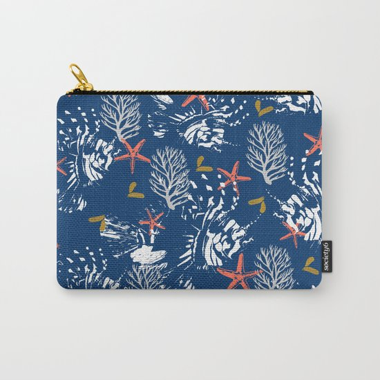 Pattern nautical sea Carry-All Pouch