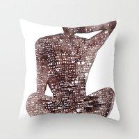 spiritual Throw Pillows featuring Spiritual Awakening by Margarita Mascaro