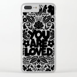 you are loved - garden Clear iPhone Case