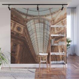 Galleria Vittorio Emanuele, Milan architecture, Milan landmark, italian building, glass dome Wall Mural