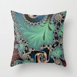 Azure - Fractal Art Throw Pillow