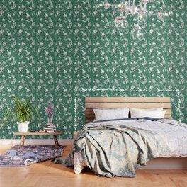 Tea Time Green Wallpaper