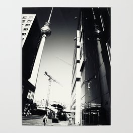 Berliner Straßen Fotografie am Alexanderplatz Foto 2012 Poster