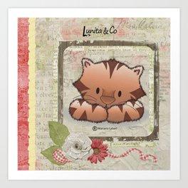 Sweet little tiger Art Print