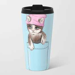 Little Cat in Pocket Travel Mug