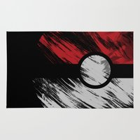 pokeball Area & Throw Rugs featuring I Choose You by Daizy Jain