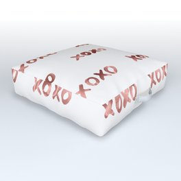 XOXO Fashion Love Rose Gold Pattern Outdoor Floor Cushion