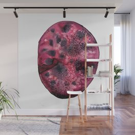 Battle Wound Agate Watercolor Wall Mural