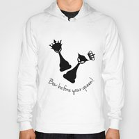 feminism Hoodies featuring Chess Cats - Feminism by La Gata Venenosa