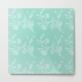 white flowers on blue background ( https://society6.com/totalflora/collection Metal Print