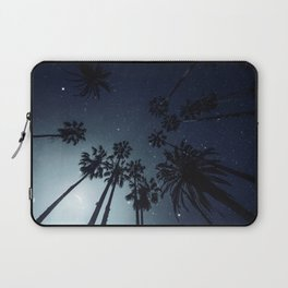 Palm Trees, Night Sky, Stars, Moon Laptop Sleeve