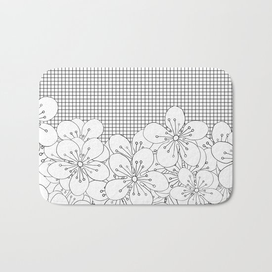 Cherry Blossom Grid - In Memory of Mackenzie Bath Mat