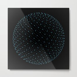 Fibo Orb Night Metal Print