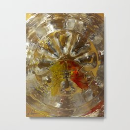 almost abstract glass of water with jaw Metal Print