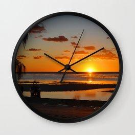 Australian Sanset Wall Clock