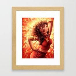 Catching Fire - August Heat Framed Art Print