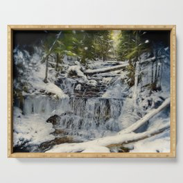 Wagner Falls Painterly Serving Tray