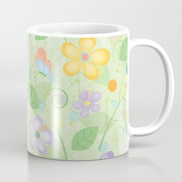 Floral and Butterfly Pattern - Spring Blossom Coffee Mug
