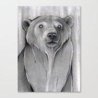 teddy bear Canvas Prints featuring Teddy Bear by Puddingshades