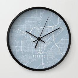 Toledo Map, USA - Slate Wall Clock