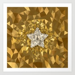 POLYNOID Star / Gold Edition Art Print