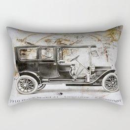 1910 Buick Limousine Rectangular Pillow