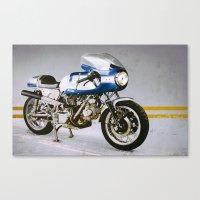 ducati Canvas Prints featuring Ducati 750SS by pixelsandwheels