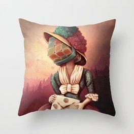 Lady Rubik Throw Pillow