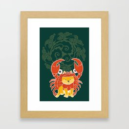 Crab Funny Dog Costume - Sea Collection Framed Art Print