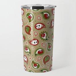 Cat Paisley Christmas Travel Mug