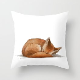 Let Sleeping Foxes Lie Throw Pillow