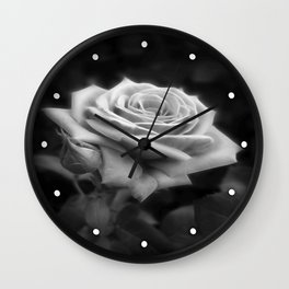 Pink Roses in Anzures 3 B&W Wall Clock