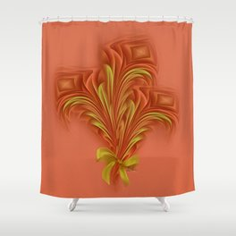 Color Meditation - Orange  Shower Curtain