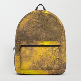 Yellow Painted on Concrete Backpack