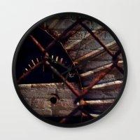 industrial Wall Clocks featuring Industrial by KunstFabrik_StaticMovement Manu Jobst